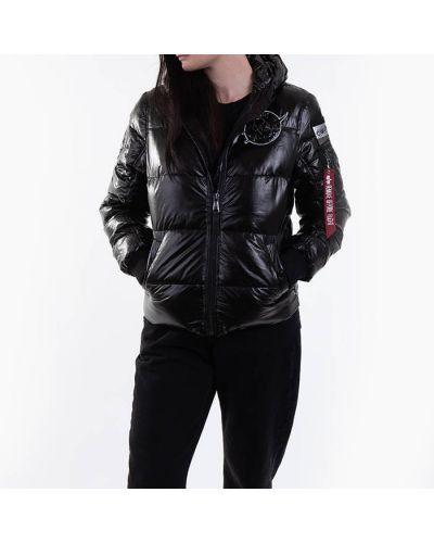 Черная дутая куртка Alpha Industries