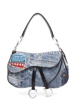 Кожаная сумка на плечо винтажная на молнии Christian Dior