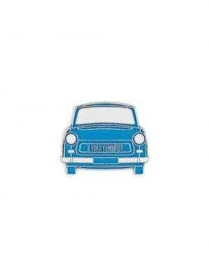 Niebieska broszka ze srebra srebrna Yohji Yamamoto