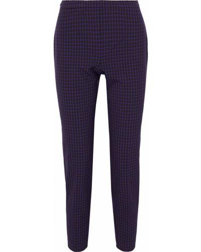 Фиолетовые укороченные брюки с карманами из вискозы Elie Tahari