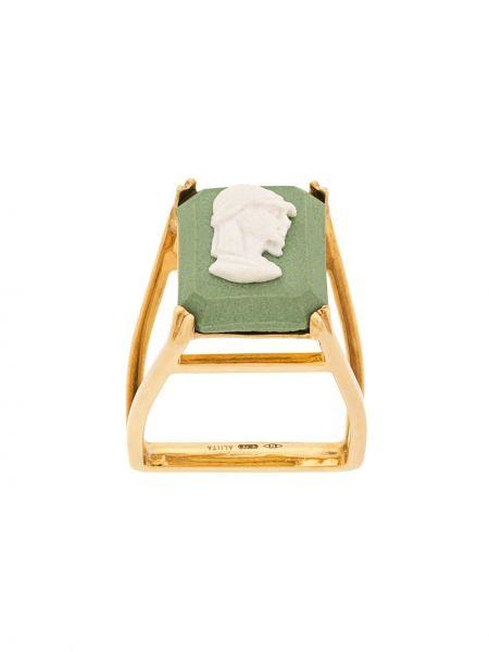 Pierścień biały ze złota Aliita