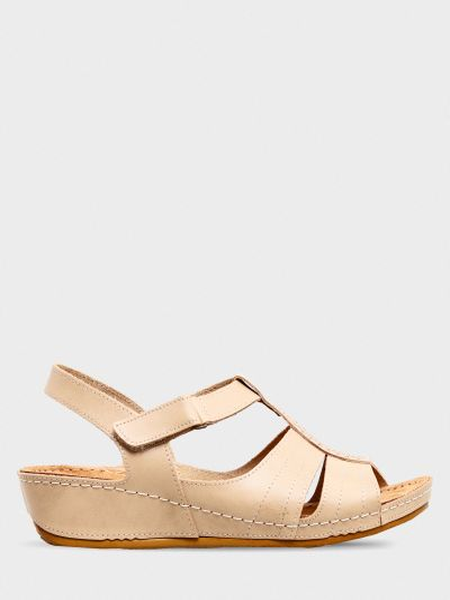 Кожаные сандалии - бежевые Gunter
