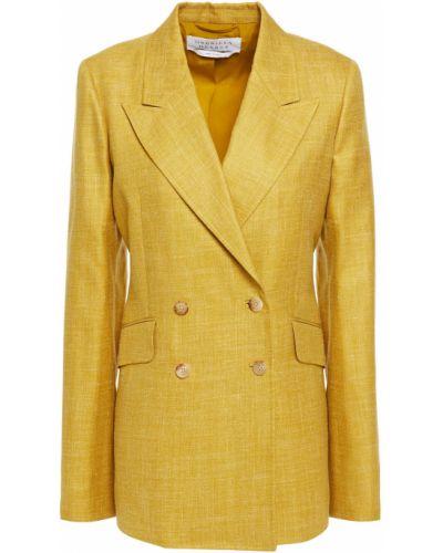 Желтый пиджак двубортный с карманами Gabriela Hearst