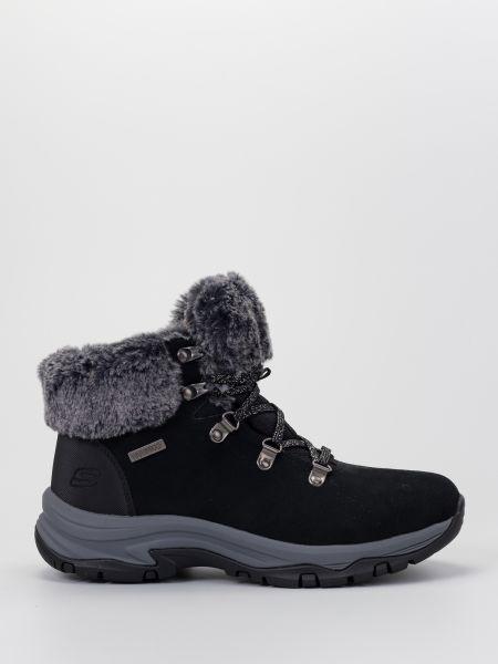 Кожаные ботинки - черные Skechers
