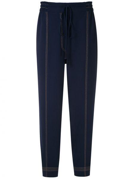 Зауженные прямые брюки с поясом из вискозы Martha Medeiros