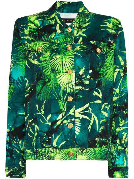 Джинсовая куртка на пуговицах с карманами Versace