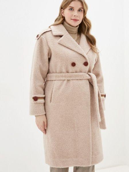 Бежевое пальто с капюшоном Grafinia