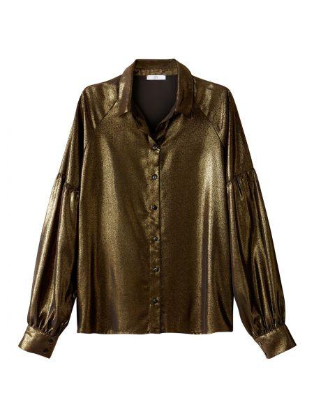 Рубашка с длинным рукавом с воротником-стойкой однотонная La Redoute Collections