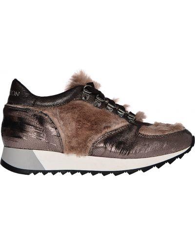 Кроссовки с мехом коричневый Stokton