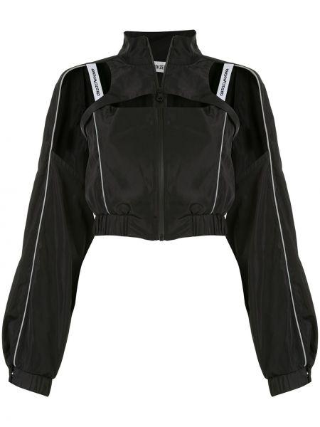 Черная джинсовая куртка на молнии с воротником Ground Zero