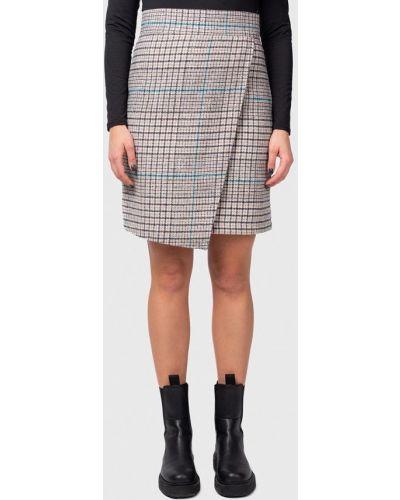 Бежевая прямая юбка карандаш Bessa
