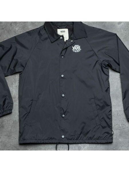 Брендовая черная куртка Vans