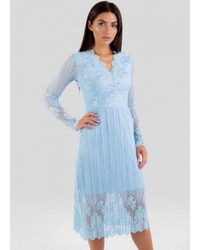 Вечернее платье - голубое Vsv