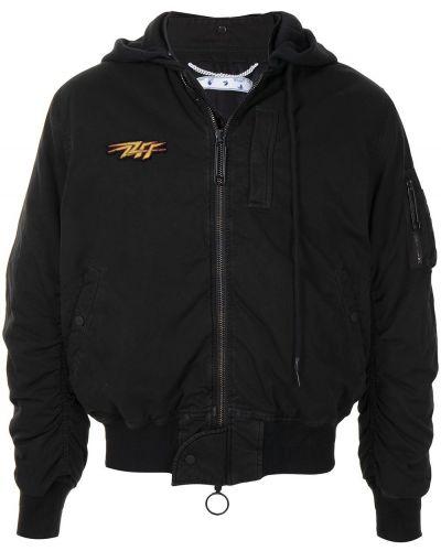 Bawełna czarny kurtka z kapturem Off-white