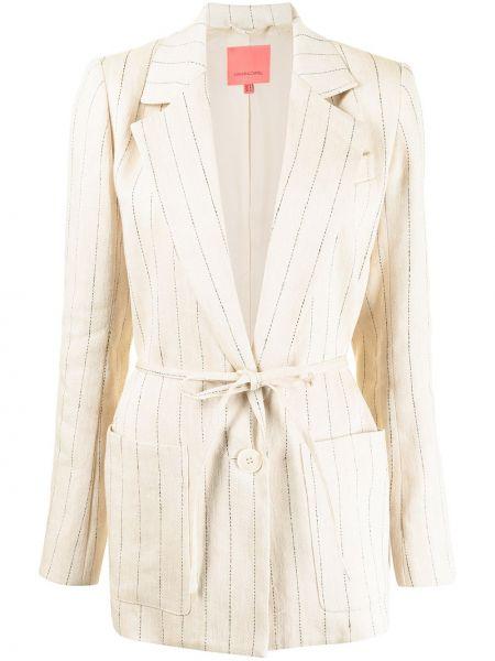 Коричневый пиджак длинный Manning Cartell