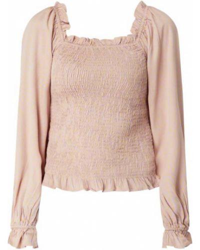 Fioletowa bluzka z wiskozy z raglanowymi rękawami Pieces