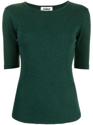 Zielona koszulka prążkowana Ymc