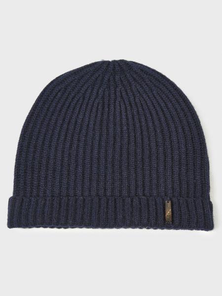 Синяя кашемировая шапка Corneliani