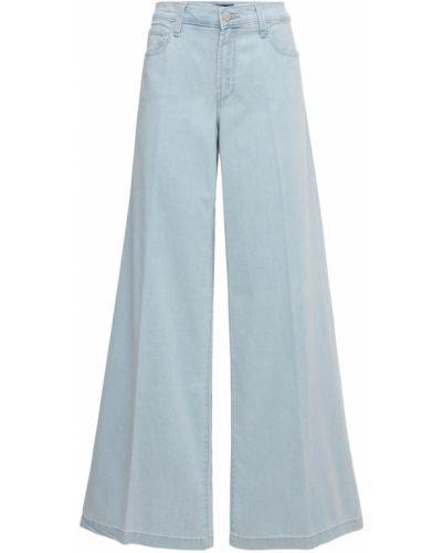Синие широкие джинсы с карманами свободного кроя J Brand