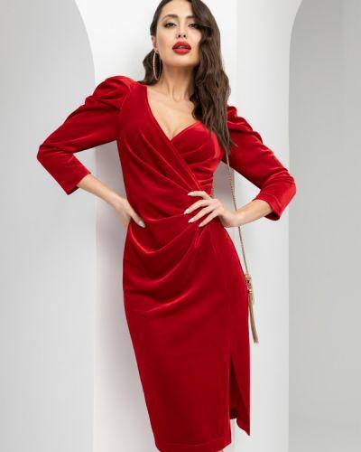 Бархатное вечернее платье новогоднее с разрезом Charutti