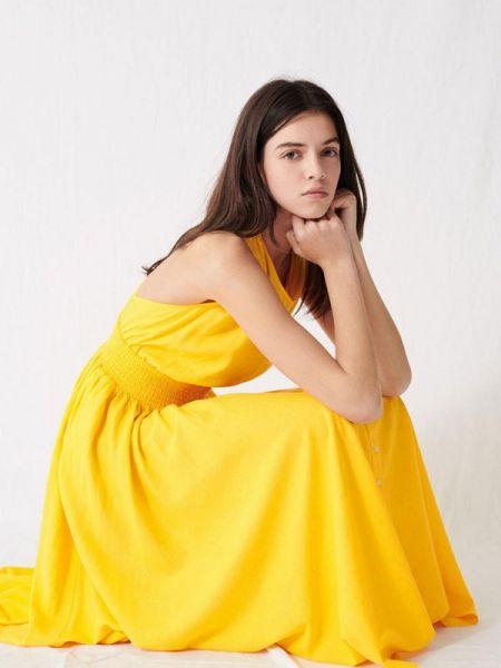 Повседневное платье весеннее желтый Maje