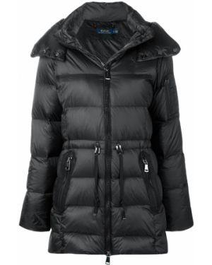 Нейлоновое черное пальто Polo Ralph Lauren
