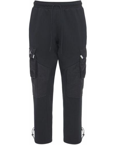 Флисовые брюки карго эластичные с завязками Nike