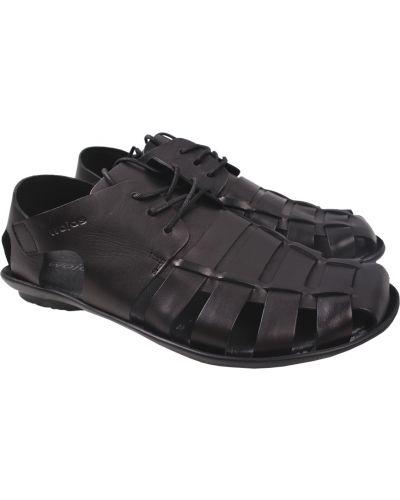 Кожаные сандалии - черные Wojas