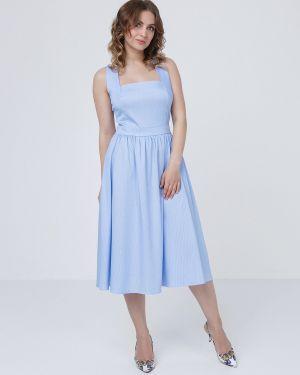 Летнее платье в полоску на пуговицах Mariko