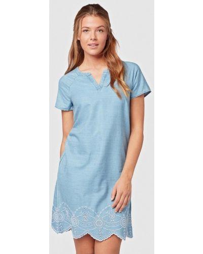 Джинсовое платье весеннее голубой Tom Tailor