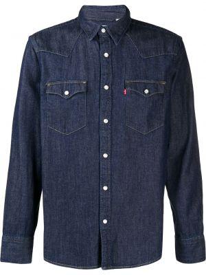 Синяя прямая джинсовая рубашка с воротником на пуговицах Levi's®
