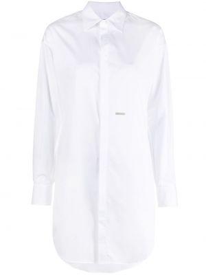 Хлопковое белое платье мини с воротником Dsquared2