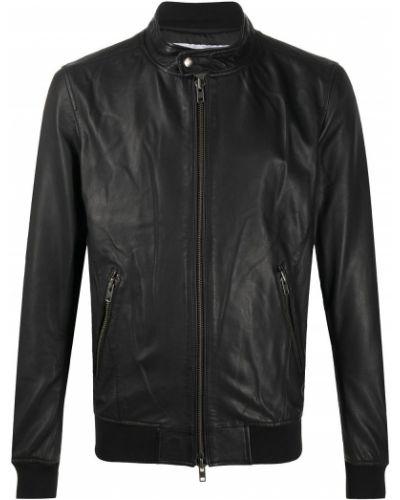 Черная куртка на молнии с карманами с воротником S.w.o.r.d 6.6.44