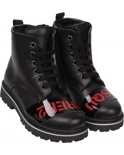 Черные ботинки Dsquared2