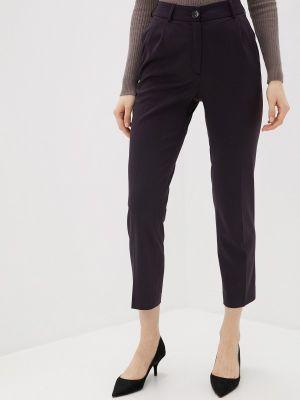 Бордовые классические брюки с карманами La Biali