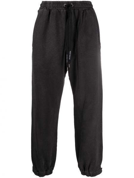 Хлопковые черные спортивные брюки с заплатками с карманами Mauna Kea