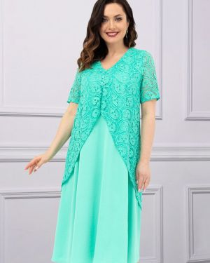 Повседневное с рукавами шифоновое вечернее платье Charutti