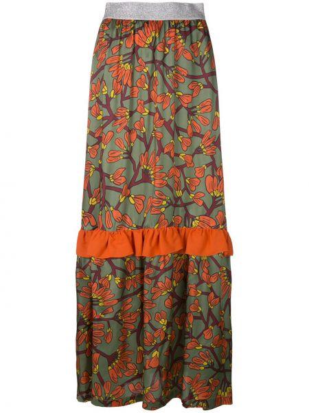 Ажурная юбка макси с оборками из вискозы I'm Isola Marras