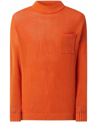 Prążkowany pomarańczowy sweter bawełniany Tigha