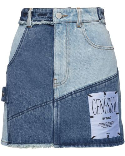 Джинсовая юбка мини - синяя Mcq Alexander Mcqueen