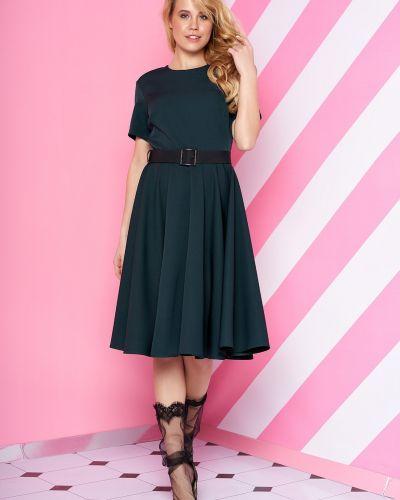 Кожаное платье - зеленое Van Gils
