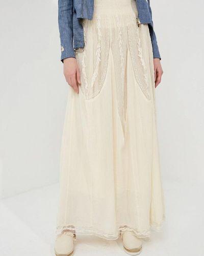 Бежевая юбка макси Twin-set Simona Barbieri