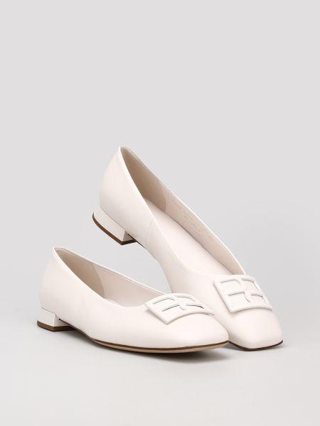 Кожаные балетки - белые Hogl