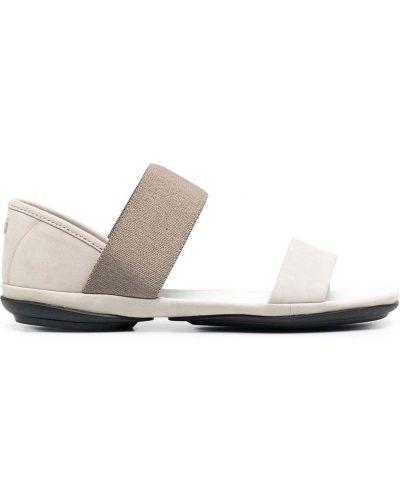 Открытые кожаные сандалии на платформе Camper
