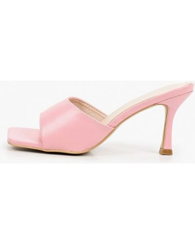 Розовые кожаные сабо Sergio Todzi