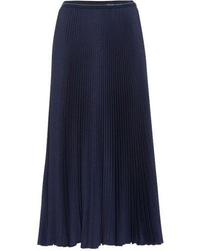 Плиссированная юбка миди пачка Prada