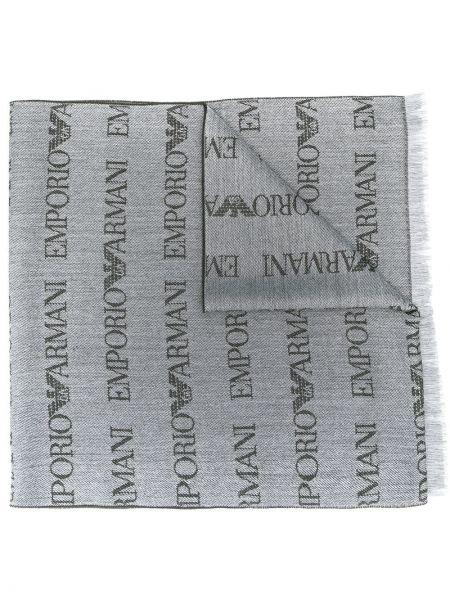 Шарф с вышивкой Emporio Armani