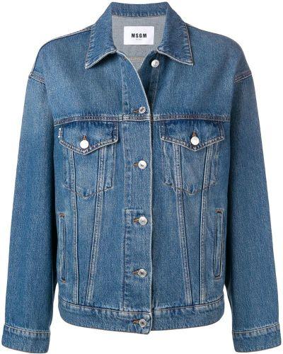 Джинсовая куртка классическая на пуговицах Msgm