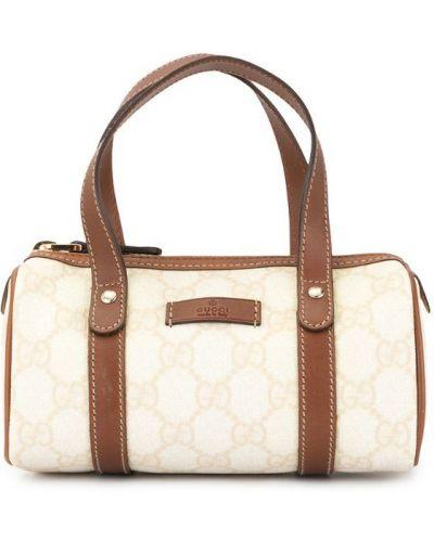 Кожаная сумка маленькая с ручками Gucci Vintage