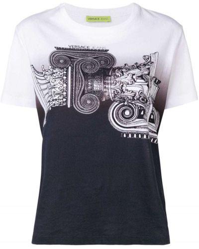 Футбольная футболка в рубчик Versace Jeans